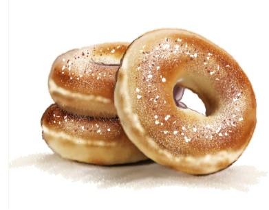 Sugar & Cinnamon Doughnut Graphic
